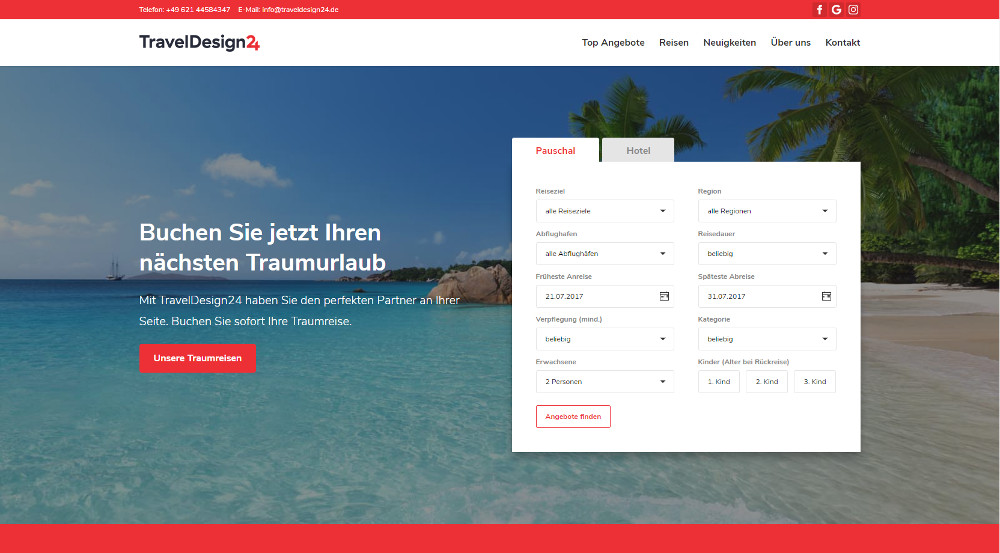 TravelDesign24_Demo_Seite